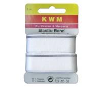 Резинка окантовочная HKM для мужского белья, белая, 24 мм