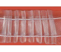 Лента шторная прозрачная равномерная сборка, 29 мм, цвет белый