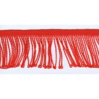 Бахрома витая, 60 мм, цвет красный