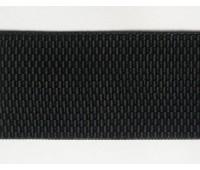 Резинка-пояс декоративный, 50 мм, цвет черный