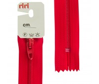 Молния Meras, спираль, неразъёмная, 4 мм, 18 см, цвет 2407, красный