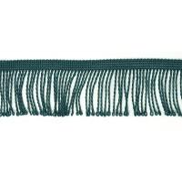 Бахрома витая, 60 мм, цвет изумрудно-зеленый темный