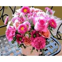 """Картина по номерам """"Букет розовых цветов"""""""