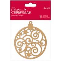 """Декоративный элемент """"Рождественский шар"""" (дерево) Create Christmas"""