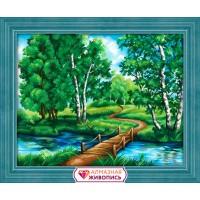 "Картина стразами ""Березы у реки"""