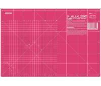 Мат для пэчворка, толщина 1,6 мм, розовый, 45 х 60 см