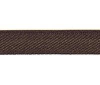 Тесьма брючная PEGA, цвет темно-коричневый, 15 мм