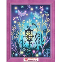 """Картина стразами """"Волшебный фонарь"""""""