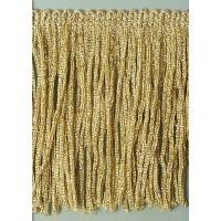 Бахрома 75 мм, цвет золотистый с люрексом