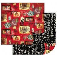 """Бумага двухсторонняя для скрапбукинга """"Древний Китай"""""""