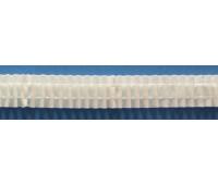 Лента шторная белая, равномерной сборки, 24 мм, нарезка 10 м
