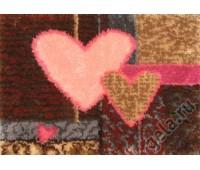 "Набор для вышивания коврика ""Геометрия сердец"""