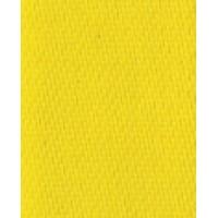 Лента атласная двусторонняя SAFISA, 11 мм, 25 м, цвет 32, желтый