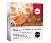 Гирлянда миниатюрная светодиодная, 10 LED ламп