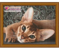 """Картина стразами """"Абиссинская кошка"""""""