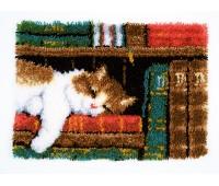 """Набор для вышивания коврика """"Кот на книжной полке"""""""