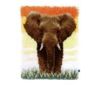 """Набор для вышивания коврика """"Cлон в саванне II"""""""