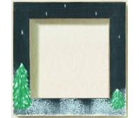 Рамка деревянная цвет черный матовый с ручной росписью