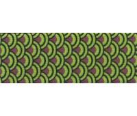 Резинка декоративная, 30 мм, цвет коричневый/зеленый, 10 м