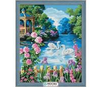 """Картина по номерам """"Беседка у озера"""""""