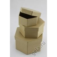 Заготовка для декупажа, набор шестиугольных коробочек