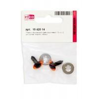 Глазки пластиковые с фиксатором, цвет коричневый, диаметр 14 мм