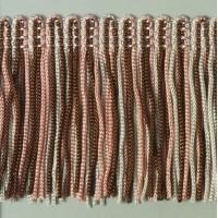 Бахрома 50 мм, цвет меланжевый (коричневый, розовый, серый)