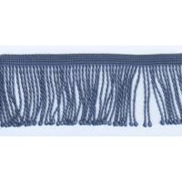 Бахрома витая, 60 мм, цвет серо-голубой
