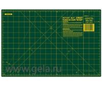 "Мат для пэчворка, толщина 1,6 мм, зеленый, 45 х 30 см/18'' х 12"""
