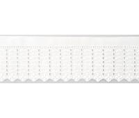 Шитье-вышивка на батисте, 55 мм, цвет белый