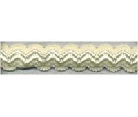 Резинка бретелечная декоративная, 12 мм, цвет экрю