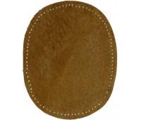 Заплатки пришивные HKM искусственная кожа, цвет табачный