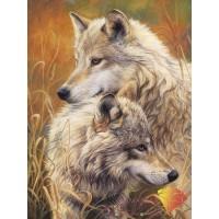 """Картина стразами """"Волчья нежность"""""""
