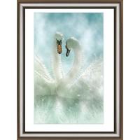 """Набор для изготовления картины со стразами """"Белые лебеди"""" Crystal Art"""