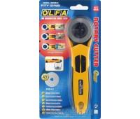 Дисковый нож с эргономичной ручкой, диаметр 45 мм, цвет желтый