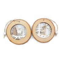 """Декоративные подвески из дерева """"Зимний лес"""""""