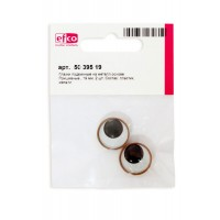 Глазки подвижные на металлической основе, пришивные, диаметр 19 мм