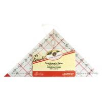 """Линейка-треугольник с углом 90*, градация в дюймах, 4 1/2"""" x 4 7/8"""""""