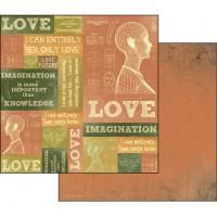 """Бумага двухсторонняя для скрапбукинга """"Любовь и воображение"""""""