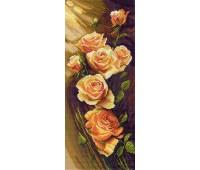 """Рисунок на канве """"Жёлтые розы"""""""