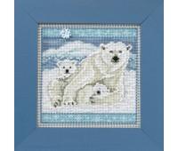 """Набор для вышивания """"Белые медведи"""""""
