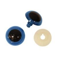 Глазки пластиковые с фиксатором, 26 мм, упак./2 шт., 'Астра' (голубой)