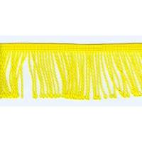 Бахрома витая, 60 мм, цвет лимонно-желтый