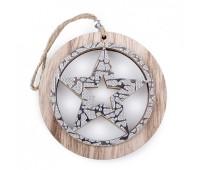 """Декоративная подвеска из дерева """"Звезда"""""""