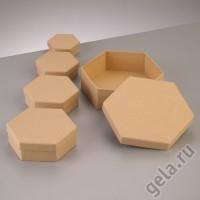 Заготовка для декупажа коробочки шестиугольные