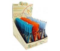 Набор ножниц для обрезки нитей 10,5 см c защитным колпачком в картонном дисплее, 36 шт