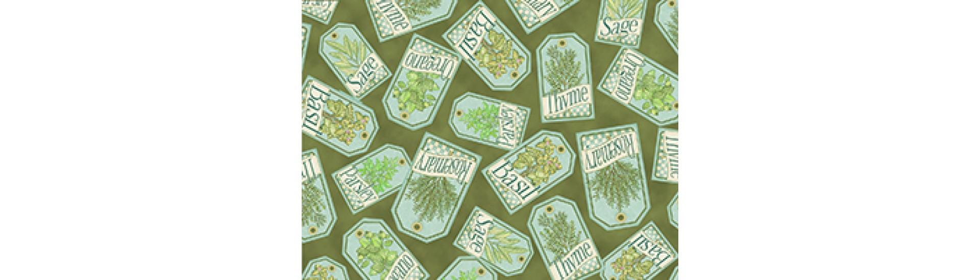 "Ткани для пэчворка Quilting Treasures ""Сад трав"" (цена указана за отрез длиной 5,49м)"