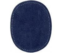 Заплатки пришивные HKM искусственная кожа, цвет джинс индиго