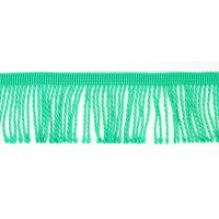 Бахрома витая, 60 мм, цвет бриллиантовая зелень светлый
