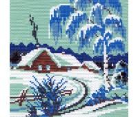 "Рисунок на канве ""Зимнее утро"""